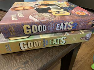 Good eats food network cook books for Sale in Richardson, TX