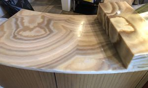 Curved Honey Onyx Stone curved counter for Sale in Seattle, WA
