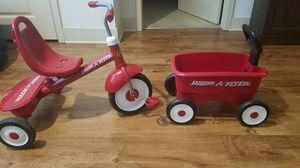 Radio Flyer bike and wagon for Sale in Murfreesboro, TN