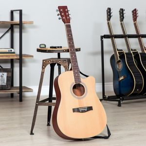 41in Full Size Beginner Acoustic Cutaway Guitar Set w/ Case, Capo, Tuner for Sale in Dublin, OH