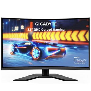 """GIGABYTE G32QC 32"""" 165Hz QHD Curved Gaming Monitor, 2560 x 1440 VA 1500R Display, 1ms (MPRT) Response Time, 94% DCI-P3, VESA Display HDR400, FreeSync for Sale in Fort Lee, NJ"""