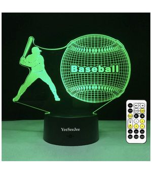 Baseball Gifts Baseball Lamp with 7 Colors for Sale in Pleasanton, CA
