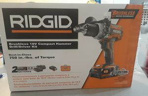18v compact hammer drill kit ridgid for Sale in Miami, FL
