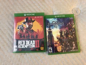 XBOX 1 Red Dead 2 Kingdom Hearts 3 for Sale in Fort Lauderdale, FL