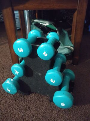 20 lbs total weight set rack included. for Sale in Addison, IL