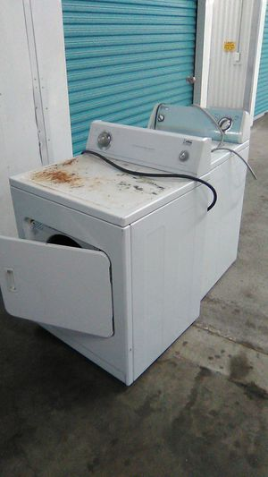 ($27 for both) Whirlpool estate dryer heavy duty large capacity washing machine for Sale in Houston, TX