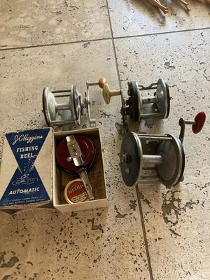 Antique fishing reels lot of four for Sale in Phoenix, AZ