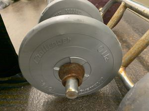 Curl bar and weights included for Sale in Chicago, IL