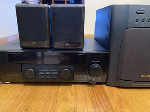 Kenwood audio receiver with powered sub for Sale in Aurora, IL