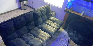 Black futon no scratches or dents or stains like new!!! for Sale in Heidelberg, PA