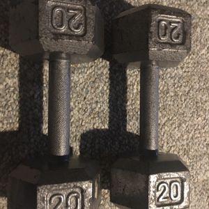 20LBS Steel Dumbbells for Sale in Rochester, MI