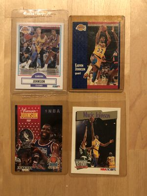 Magic Johnson vintage collectible cards for Sale in Culver City, CA