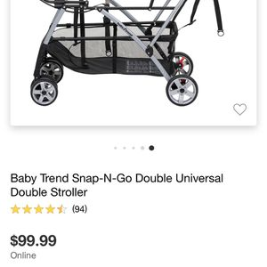 Twin /Double Car Seat ( Lightweight) Stroller for Sale in Houston, TX