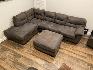 Sectional couch and recliner for Sale in Las Vegas, NV