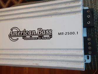 American Bass 2500.1 Class D 2 Channel amp for Sale in Columbus,  OH