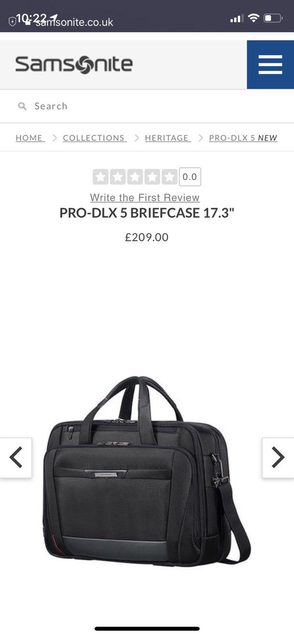 """Samsonite PRO DLX 5 17"""" Briefcase Europe Only"""