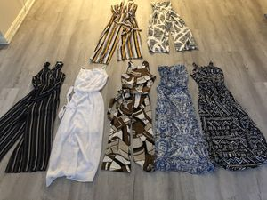 Lot of 7 Summer dress jumpsuit for Sale in Germantown, MD