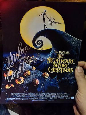 Autographed Nightmare Before Christmas 8x10 photo for Sale in Woodbury, NJ