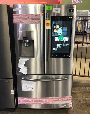 Brand New Samsung 24.2 cu. ft. Family Hub French Door Smart Refrigerator in Stainless Steel (Model:RF265BEAESR) 9 for Sale in Fort Worth, TX