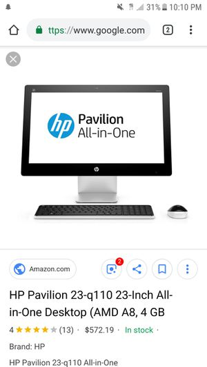 Hp all in one touch screen desktop computer for Sale in Sanford, NC