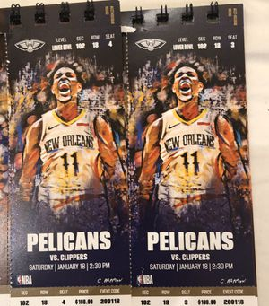Pelicans vs clippers tickets for Sale in New Orleans, LA