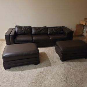 Leather Sofa with 2 Futons for Sale in Los Angeles, CA