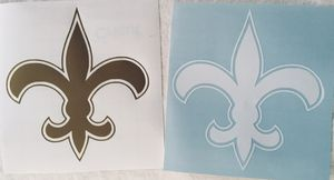 new orleans SAINTS gold + white vinyl car window decal lot of 2 for Sale in Irvine, CA
