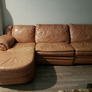 Leather Sofa Sectional With Recliners for Sale in Clearwater, FL