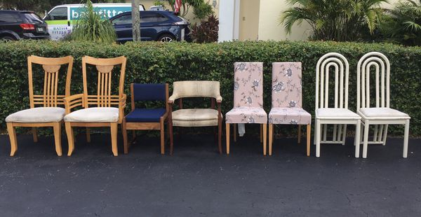 Chairs & More Chairs at $10 each
