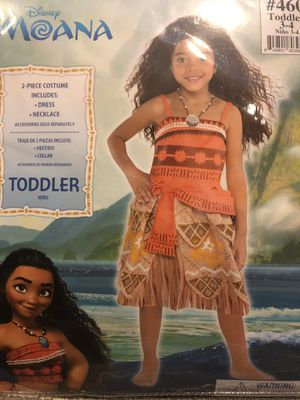 Moana costume toddler 3-4yrs for Sale in Cedar Grove, NJ