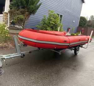 16' Inflatable Boat with Trailer for Sale in Duvall, WA