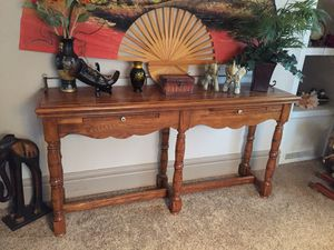 Vintage oak sofa table for Sale in Fairmont, MN