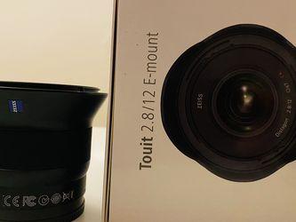 Zeiss Touit 12mm 2.8 (Great For Astro / Ocean Photog.) for Sale in Oceanside,  CA