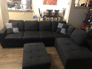 Sectionals couch with storage ottoman for Sale in Redmond, WA