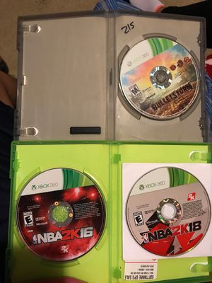 NBA 2k18/2k16 and Bulletstorm for Xbox 360 and Headphones Bluetooth for Sale in Dallas, TX