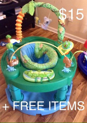 Evenflo ExerSaucer Baby Bouncer Jungle Baby Walker Alternative + FREE ITEMS for Sale in Mount Prospect, IL