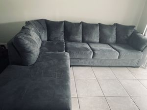 Ashley furniture microfiber Grey sectional sofa for Sale in Leesburg, FL