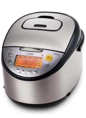 New Tiger JKT-S18U 10-Cup (Uncooked) Multi Purpose IH Cooker (Rice Cooker, Synchro-Cooker, Slow Cooker, Bread Maker, etc.) with Tacook Cooking Plate for Sale in West Los Angeles, CA