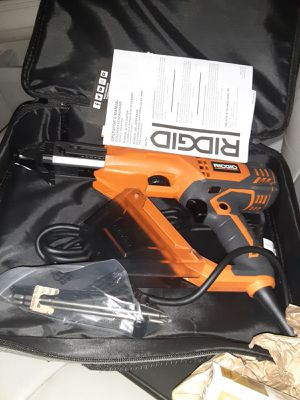 Ridgid collated screwdriver double insulated. $ 60 for Sale in Balch Springs, TX