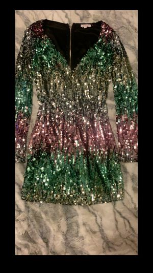 L sequin dress like new for Sale in Los Angeles, CA