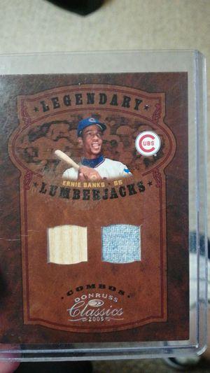 Ernie banks legendary lumberjacks jersey/bat card for Sale in Lincoln, NE