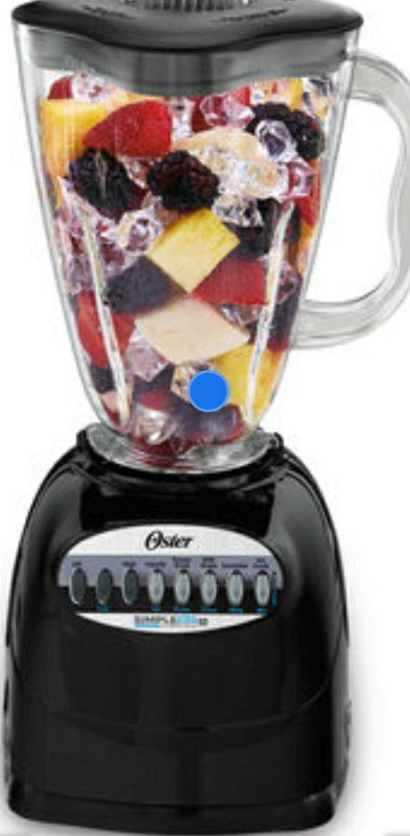 Blender Oster 6-Cup Plastic Jar 10-Speed Blender, 450 Watt, Black