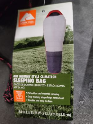 Ozark Trail Himont 40F Climatech Mummy Sleeping Bag $25 FIRM each 2 available for Sale in Redlands, CA