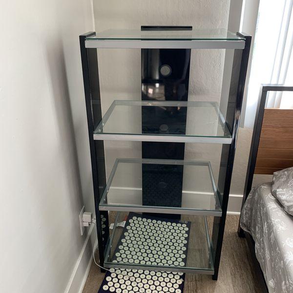 Open Glass Shelf Cabinet