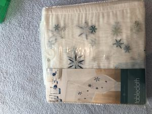 Christmas tablecloth and table runner for Sale in Apple Valley, CA