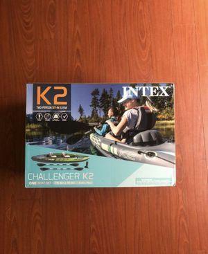 Intex Challenger K2 Kayak, 2-Person Inflatable Kayak Set for Sale in Avondale, AZ