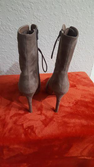 Tan suede high heel booties size 6.5 for Sale in Sebring, FL