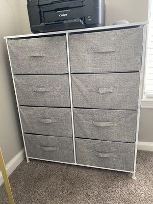 8 Drawer Storage Dresser Organizer w/ Sturdy Steel Frame with Wood Top for Sale in Atlanta, GA
