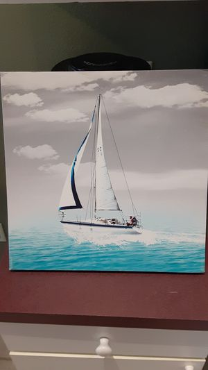 Blue & Gray Sailing Canvas Art for Sale in Tampa, FL