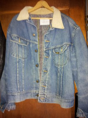 2 lee jean jackets size large perfect condition no problems well broken in soft over 45 years old for Sale in Milford, CT